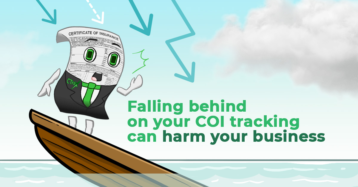 Read more about the article Falling behind on your COI tracking can harm your business