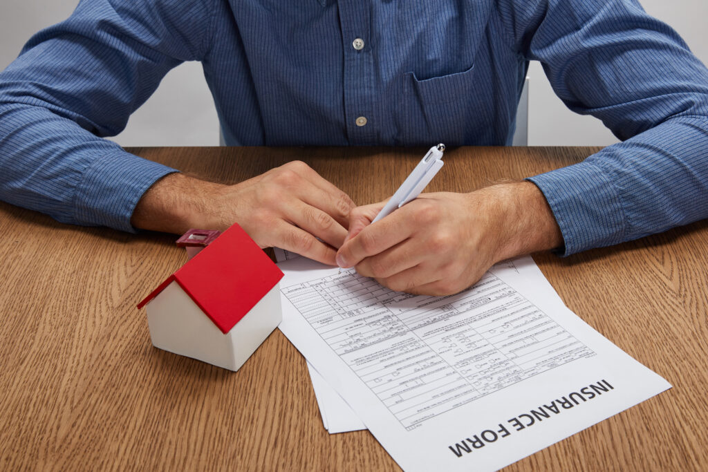 filling out insurance form