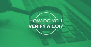 how do you verify a coi