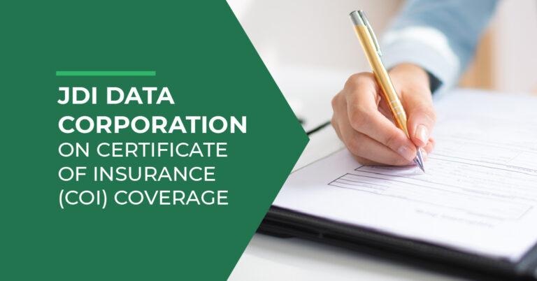 coi coverage JDi Data
